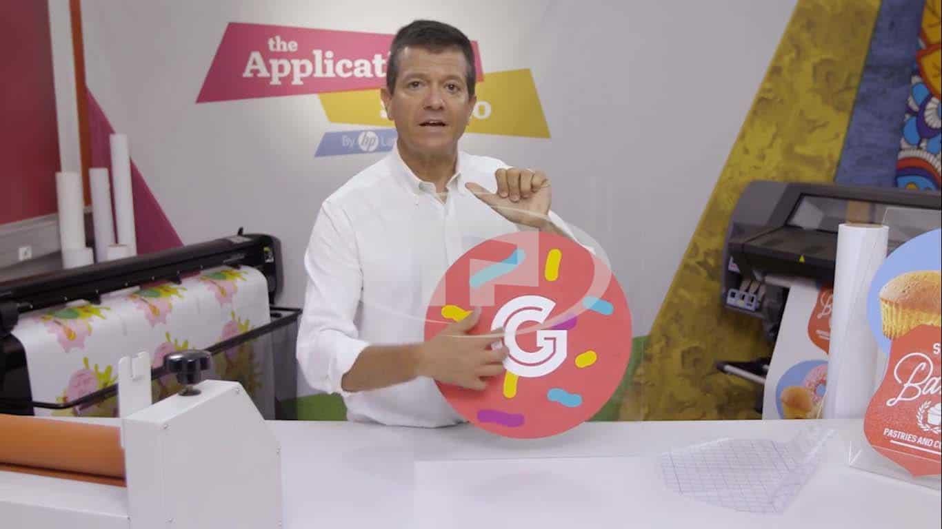 Cách in decal dán kính bằng máy in HP Latex