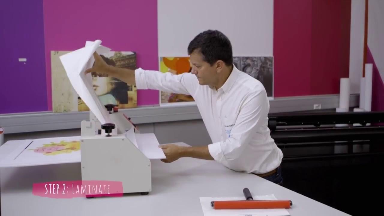 Hướng dẫn in decal dán sàn với máy in HP Latex
