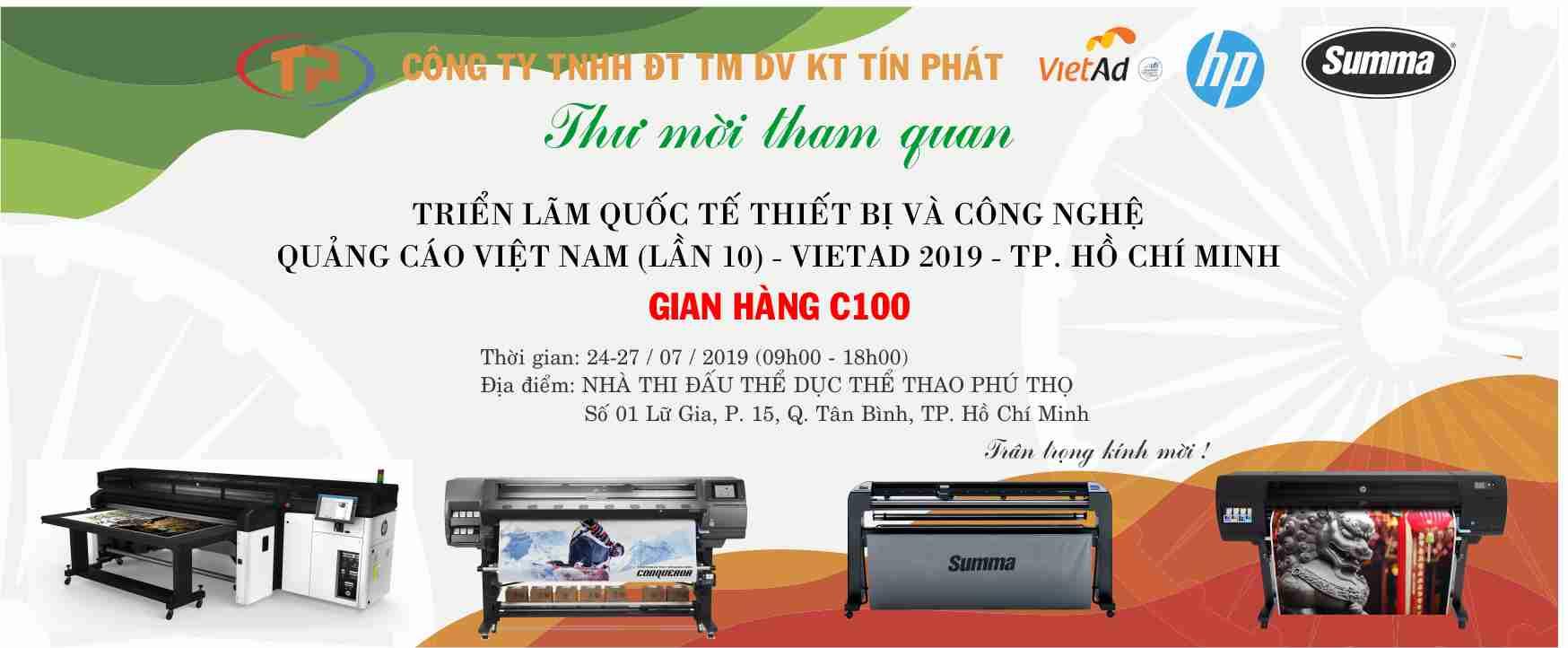 Gian hàng HP Latex triễn lãm VietAD 2019 HCM