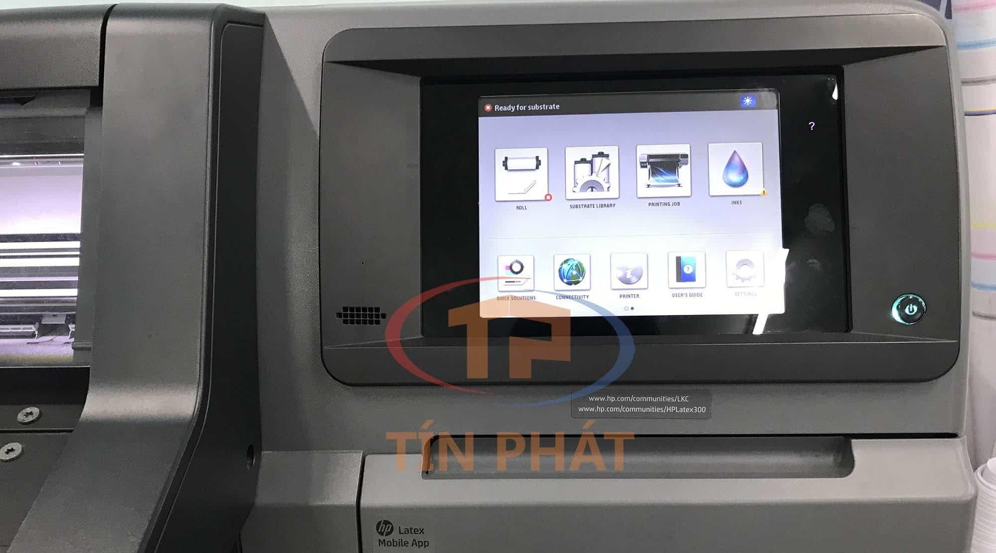 Máy in HP Latex đầu tiên tại Việt Nam sau 2 năm: màn hình chính