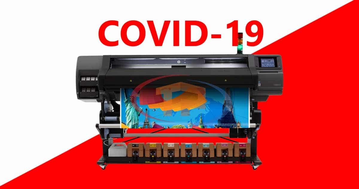 Chuẩn bị máy in HP Latex ứng phó dịch COVID-19