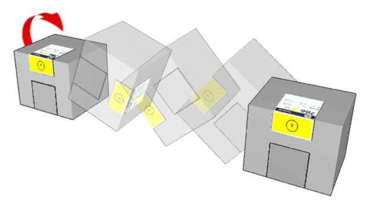 Lắc đều các bình mực HP Latex trước khi lắp lại vào máy