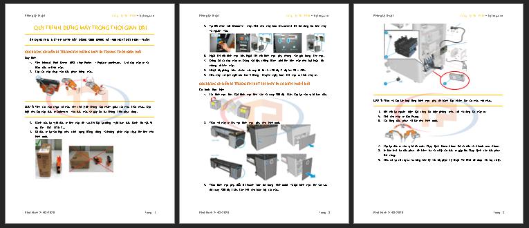 Tài liệu hướng dẫn đóng máy trong thời gian dài máy in HP Latex khổ 3m2 3000 series, 1500
