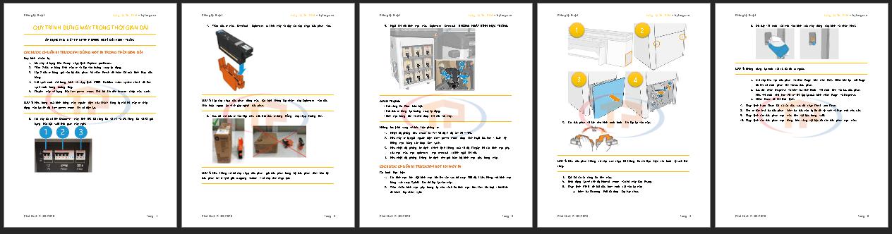 Tài liệu hướng dẫn đóng máy trong thời gian dài máy in HP Latex phẳng Latex R1000, R2000 Plus